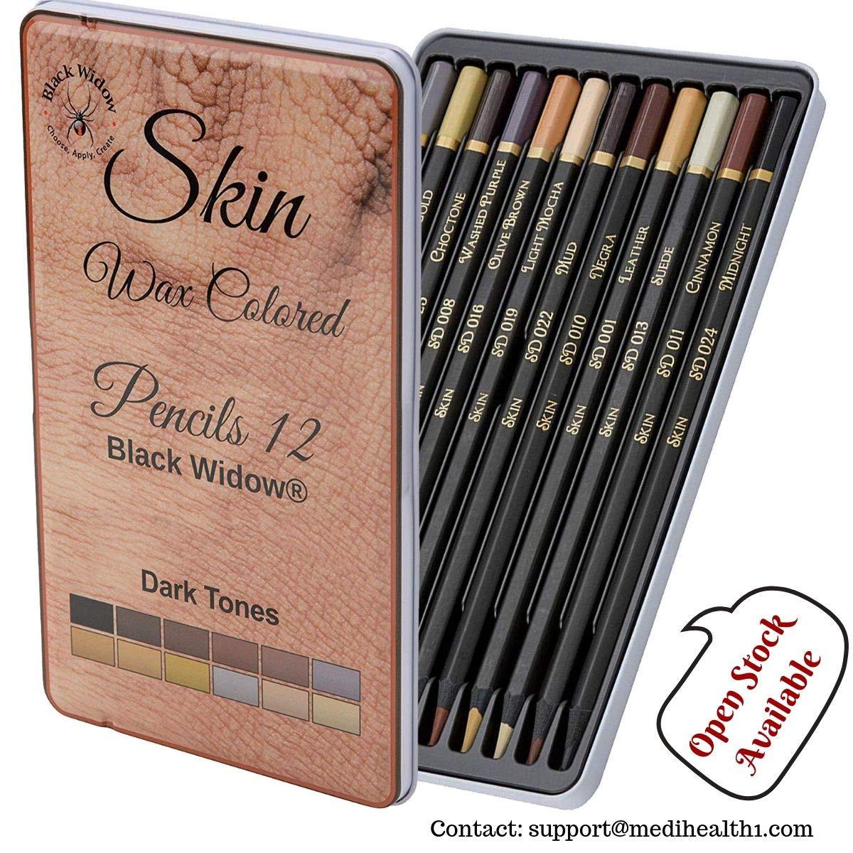 Dark skin tone color pencils for portrait set colored pencils for adults and skintone artist pencils