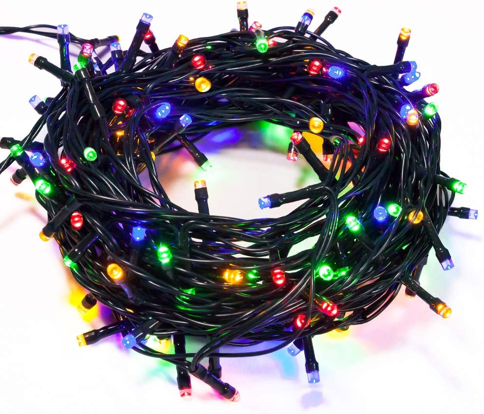 WISD Christmas Lights 338ft 1000 LED Waterproof with 8 Modes and Memory, Colored String Lights Plug in Twinkle Fairy Lights for Indoor Outdoor Xmas Tree Home Garden Party Decor, Multicolor