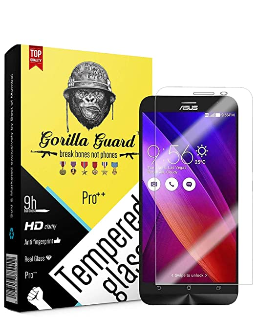 Gorilla Guard 2.5D 5.5inch ZC550KL  Pro series  HD+ Clear Tempered Glass Screen Protector for Asus Zenfone Max