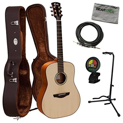 29a3361499f Amazon.com: Faith Guitars FS Saturn Natural Series Englemann  Spruce/Mahogany Acoustic Guitar: Musical Instruments