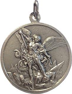 Medaille des Erzengels Michael aus Hochrelief - Große Größe - Big Size - 32 mm