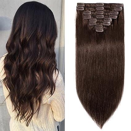 Extension clip fascia unica capelli veri