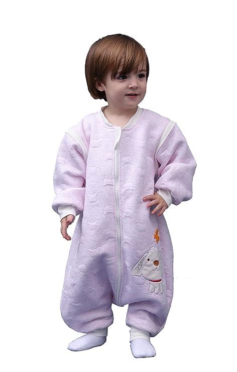 Chilsuessy - Saco de dormir para bebé (algodón), diseño de pies, para