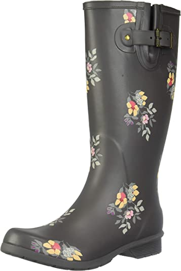 Chooka Womens Wide Calf Memory Foam Rain Boot