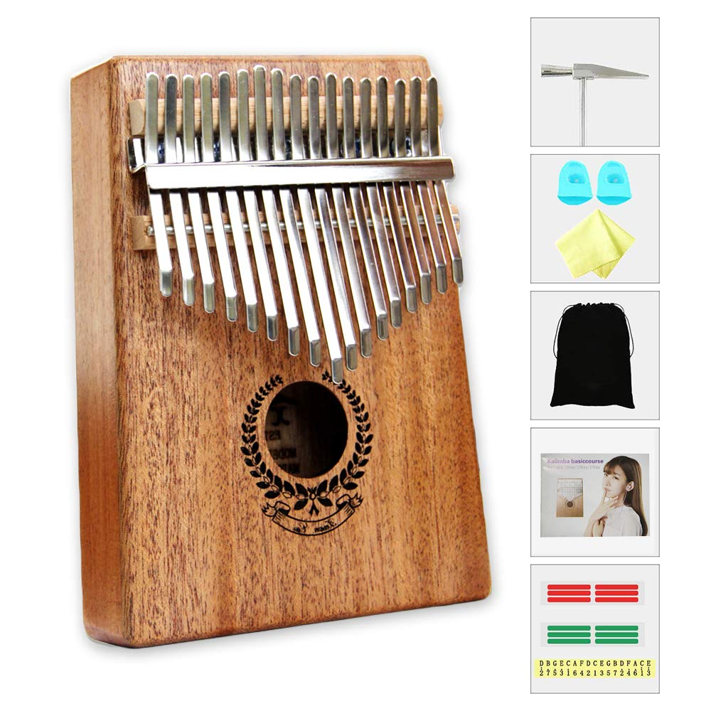 Kalimba 17 Keys Thumb Piano builts-in EVA high-performance protective box, tuning hammer and study instruction best gift For Kids Without Any Musical Basis Or Musician by Higohome (Image #1)