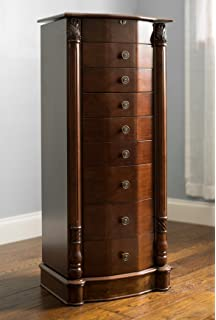 Amazon Com Songmics Jewelry Cabinet Armoire Cambered Front Storage