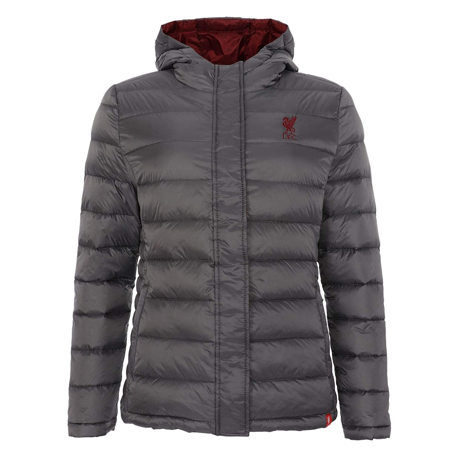 Liverpool FC Grey Womens Downfill Jacket Charcoal AW 18 19 LFC Official