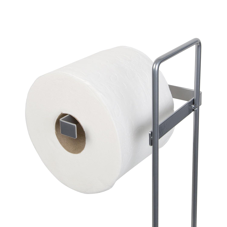 Holds 3 Standard Rolls /Γ/Ç/ô Satin Nickel -Richards Homewares Toilet Paper Storage Reserve Modern Bathroom Space Saver Free Standing