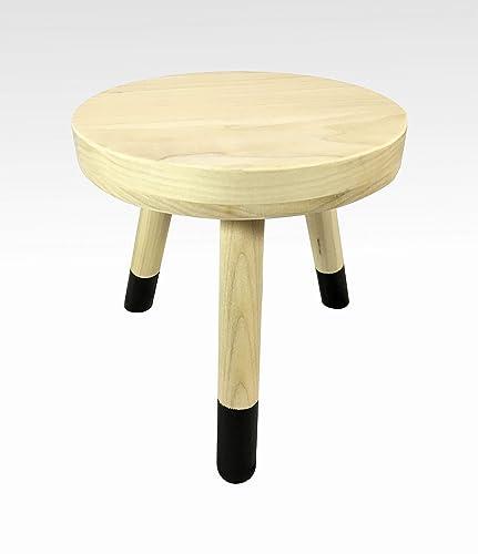 Groovy Amazon Com Small Wood Three Legged Stool Modern Plant Creativecarmelina Interior Chair Design Creativecarmelinacom