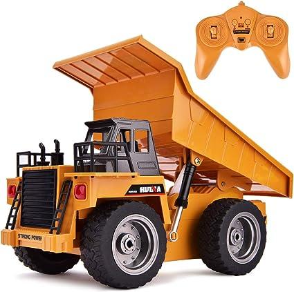 2.4GHz RC Remote Control Construction Car Dump Excavator Bulldozer Truck 1//18