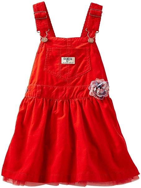 36e970d5a OshKosh B'Gosh Pantalón de Peto - para bebé Niña Rojo 68 cm: Amazon ...