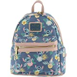 Loungefly Disney's Stitch Scrump Floral Pastel Mini Backpack