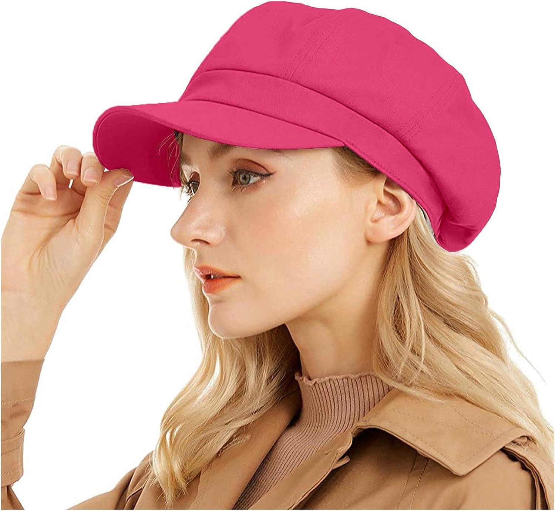 Newsboy Cap for Women Cabbie Hat 100% Cotton Plain Blank 8 Panel Gatsby Apple Cap Hat Summer