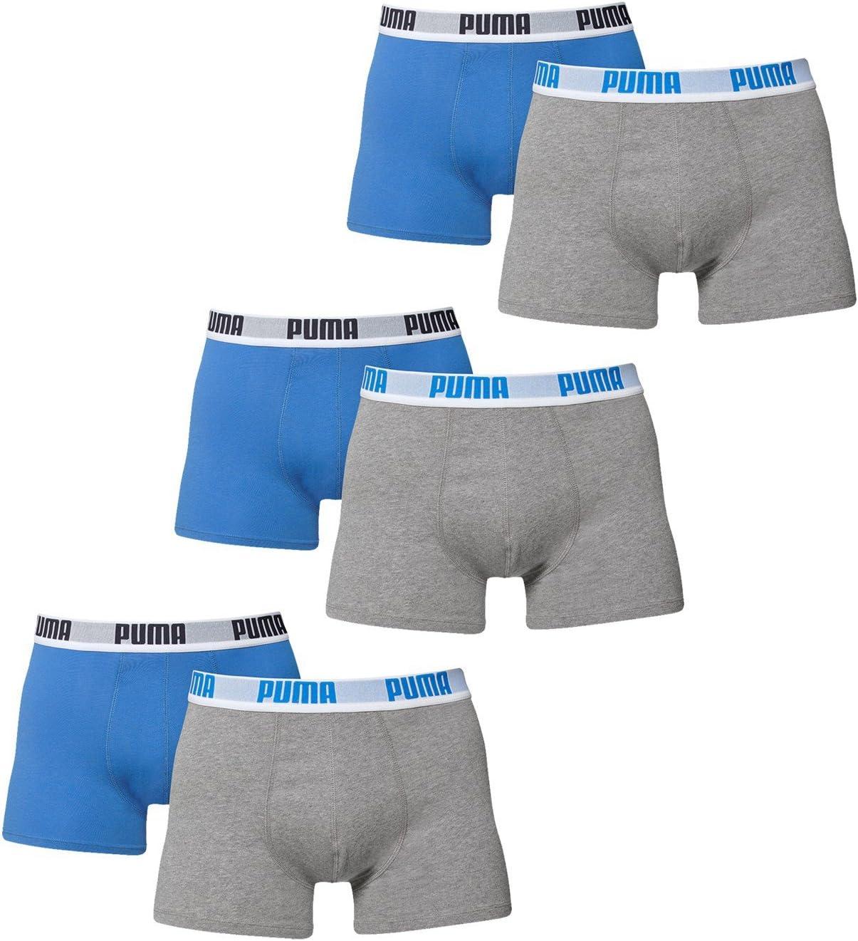 PUMA uomo Pugile di base Boxer Mutande 6 Pacco in molti colori