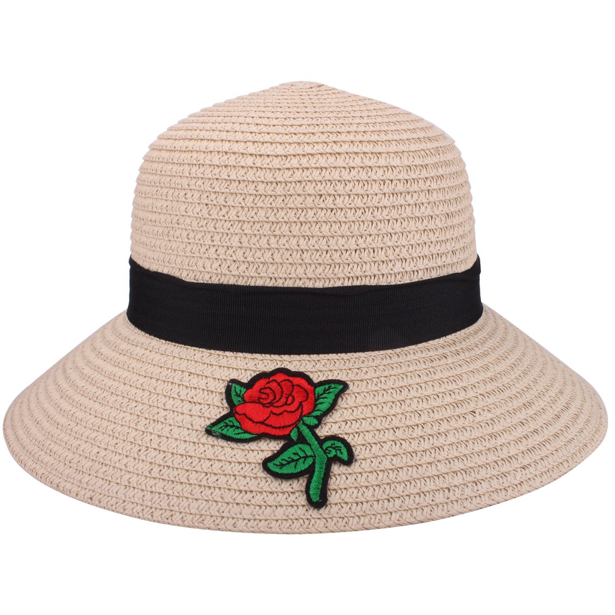 YOPINDO Sombrero de paja para mujer UPF 50+ Big Brim Sombrero de playa  plegable Summer Beach Hat Chapeau de soleil 294ccab0632d