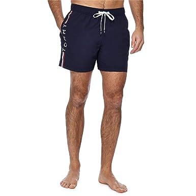 e2181dfa22 Tommy Hilfiger Men's Side Logo Athletic-Cut Swim Shorts, Navy Xx-Large Navy  | Amazon.com