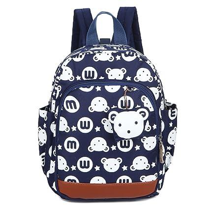 487860896d Imiflow Toddler Backpack Nursery Back Pack Purse Bags for Baby Girl Travel  Rucksack (Bluebear)
