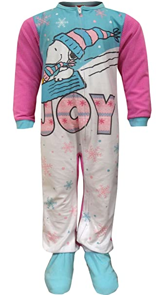 Amazon.com: Peanuts Snoopy And Woodstock Onesie Footie Toddler ...