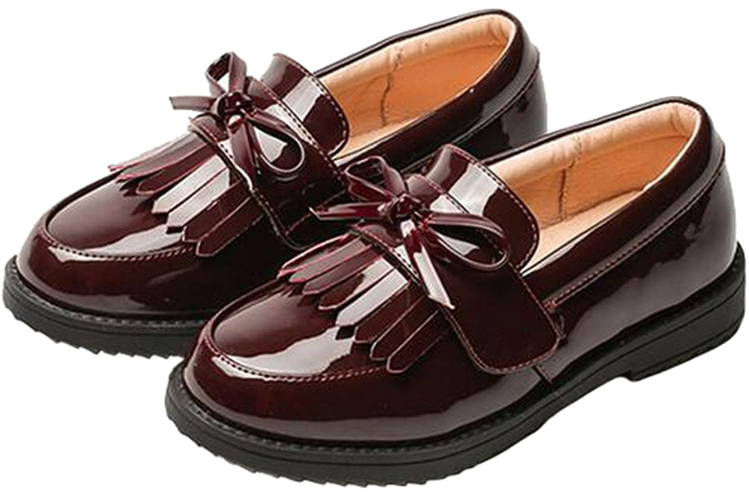 PPXID Girl's British Style School Uniform Shoes Princess Performance Oxford Shoes D0644