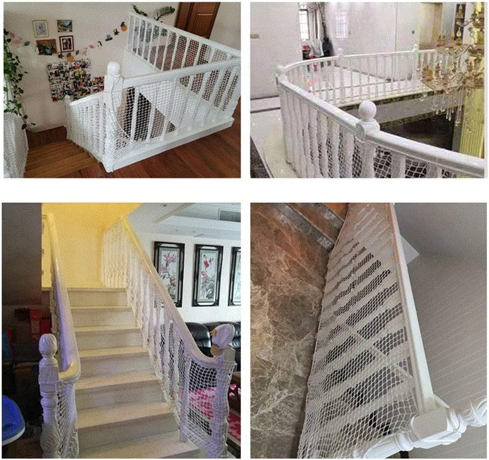 Rampe Garde-Corps for Escaliers Balcon Descalier HAIPENG Enfant Filet De S/écurit/é Animaux Domestiques Filet De Protection for B/éb/é Jouets 3.28x2.62ft Color : White, Size : 100x80cm