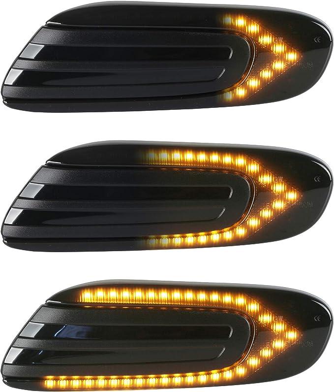 Oz Lampe Led Dynamische Led Seitenblinker Blinker 2 X Bernstein 36 Smd Mit Nicht Polarität Can Bus Fehlerfrei Oe Buchse Rauch Für Mini Cooper F54 F55 F56 F57 2014 2020 Auto