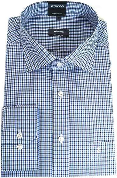 Eterna Señor Camisa Manga Larga Algodón Camisa Algodón Camisa ...