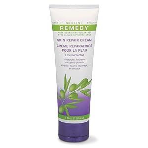 Medline Remedy Unscented Olivamine Skin Repair Cream, 4 Fluid Ounce