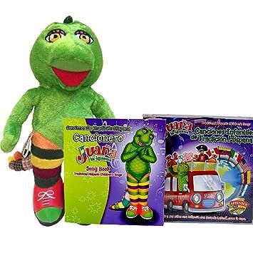 Amazon.com: JUANA LA IGUANA Toddler Learning Plush Toy & CD ...