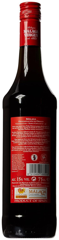 Málaga Virgen - Vino Dulce Pedro Ximénez - 75cl 15%: Amazon.es: Alimentación y bebidas