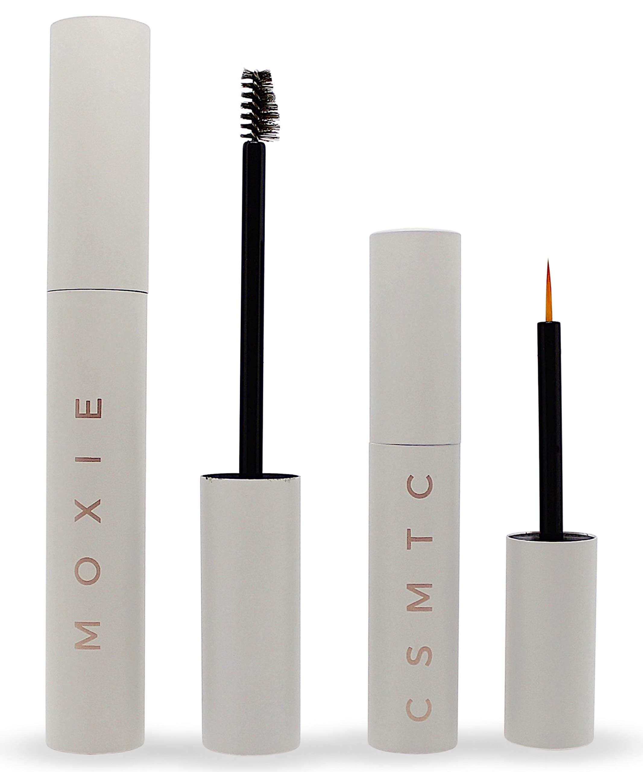 Eyelash Growth Serum and Eyebrow Enhancer   2 BOTTLES   Boost Natural Lash and Brow Hair Growth   Grow Longer, Thicker, Fuller, Luscious Eyelashes and Eyebrows with MOXIE Cosmetics Serums