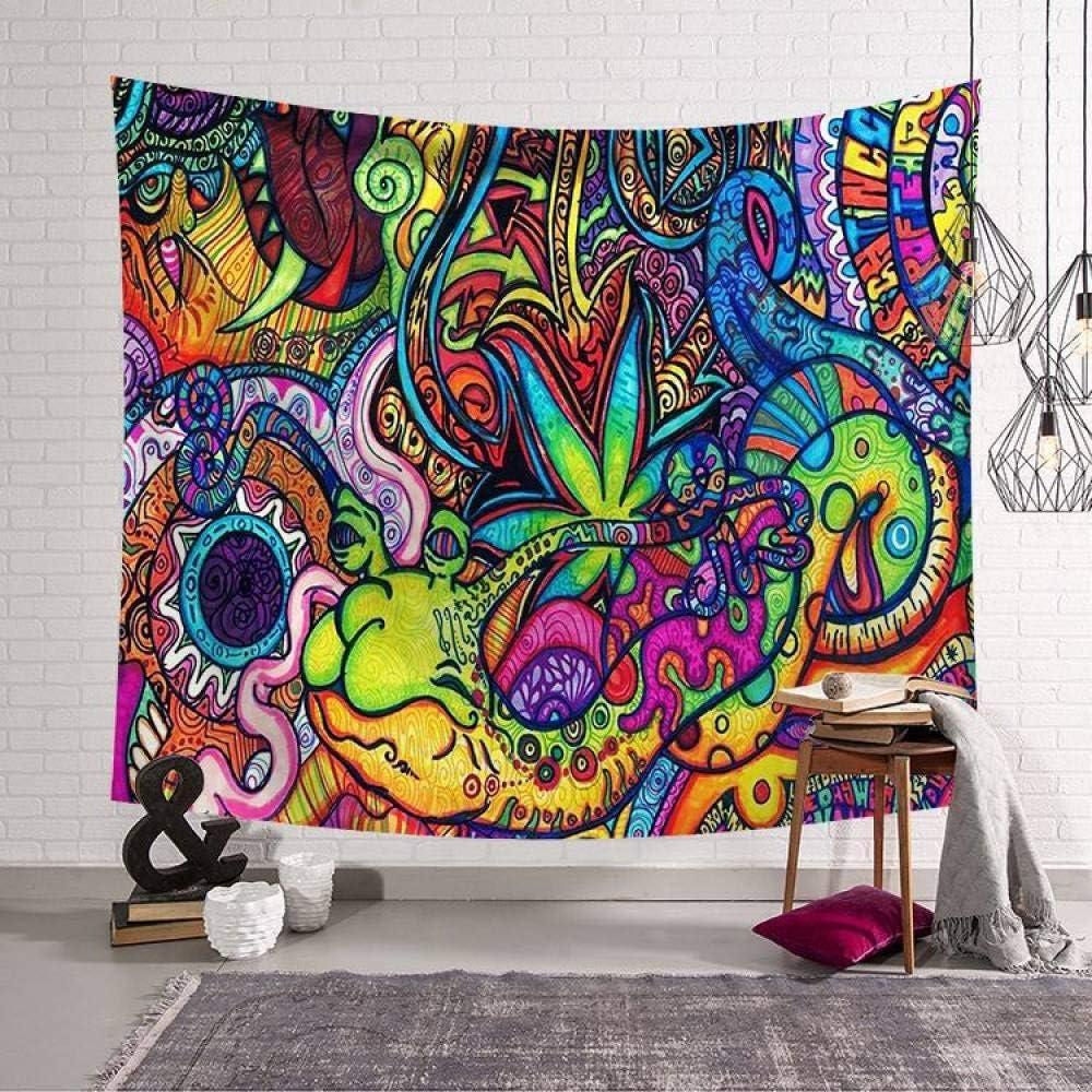 Grande Tessuto Poliestere Art Decor per Soggiorno Camera da Letto,150/×130Cm Arazzo da Parete Trippy Hippie Psichedelico Tappezzeria da Parete Colorata Lumaca Floreali