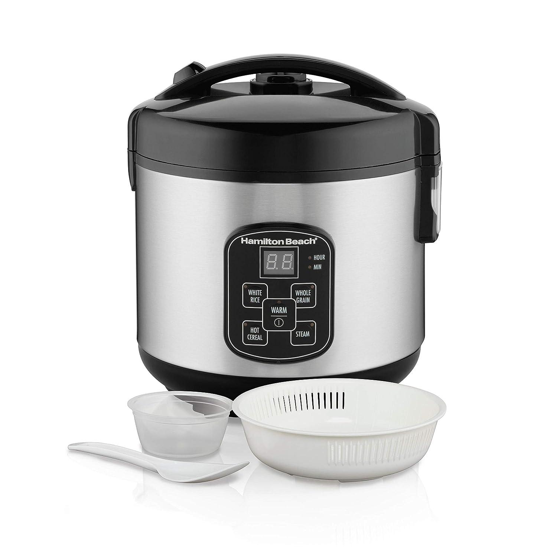 [(ハミルトンビーチ) Hamilton Beach] [炊飯器 (37543/37518) Rice Cooker, 10/4 Cups uncooked resulting in 20/8 Cups Cooked with Steam & Rinse Basket] (並行輸入品) 8 cup One Color B07JWFBD63