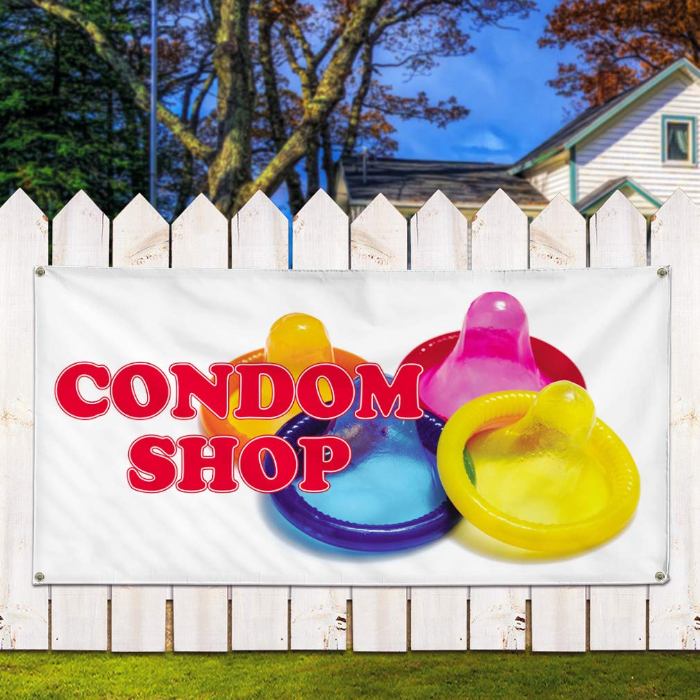 Vinyl Banner Multiple Sizes Beauty Supply Now Open Red Blue Business Outdoor Weatherproof Industrial Yard Signs 10 Grommets 60x144Inches