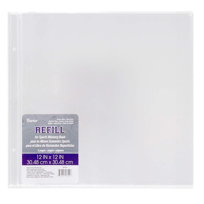 12x12 Darice 1201-54A Scrapbook Refill Page Protectors