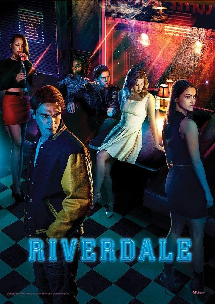 """MightyPrint Riverdale – Pop's Hangout – Archie – Betty – Jughead – Veronica – Durable 17"""" x 24"""" Wall Art – NOT Made of Paper – Officially Licensed Collectible"""