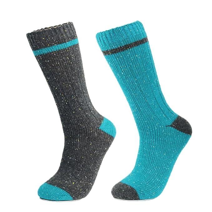 2a9fbad6e3c7a 2 Pack Men's Merino Wool Socks Winter Thick Heavy Warm Hiking Trekking Boot  Crew Socks for