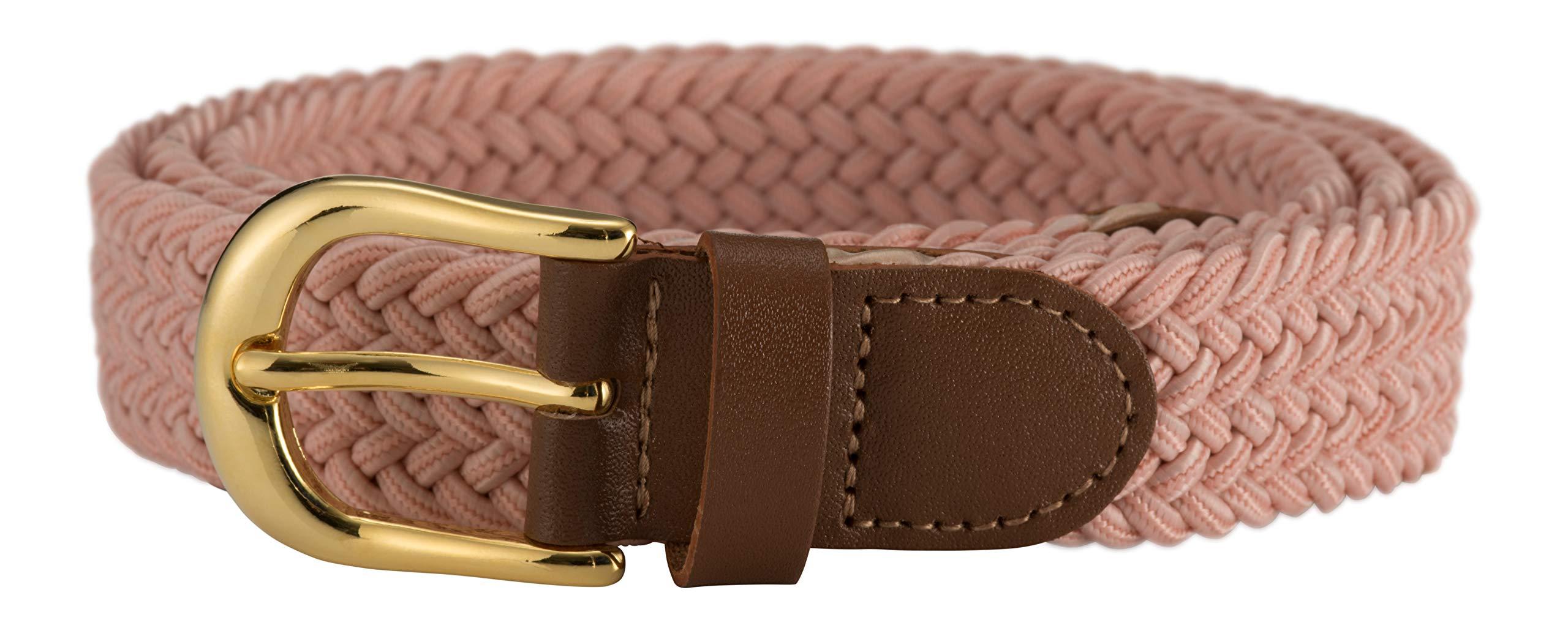 e27ed9cd577 Streeze ceinture élastique pour femmes. 5 tailles. Extensible et tressée.  25 mm de largeur avec boucle en or de tailles XS-XL