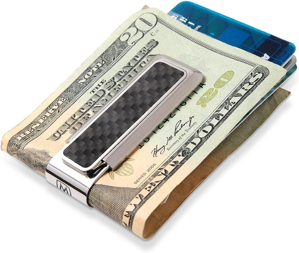 M-CLIP Team Stripes Money Clip Minimalist Wallet Alternative for Front Pocket Carry Cash and Credit Card Holder Purple /& Gold