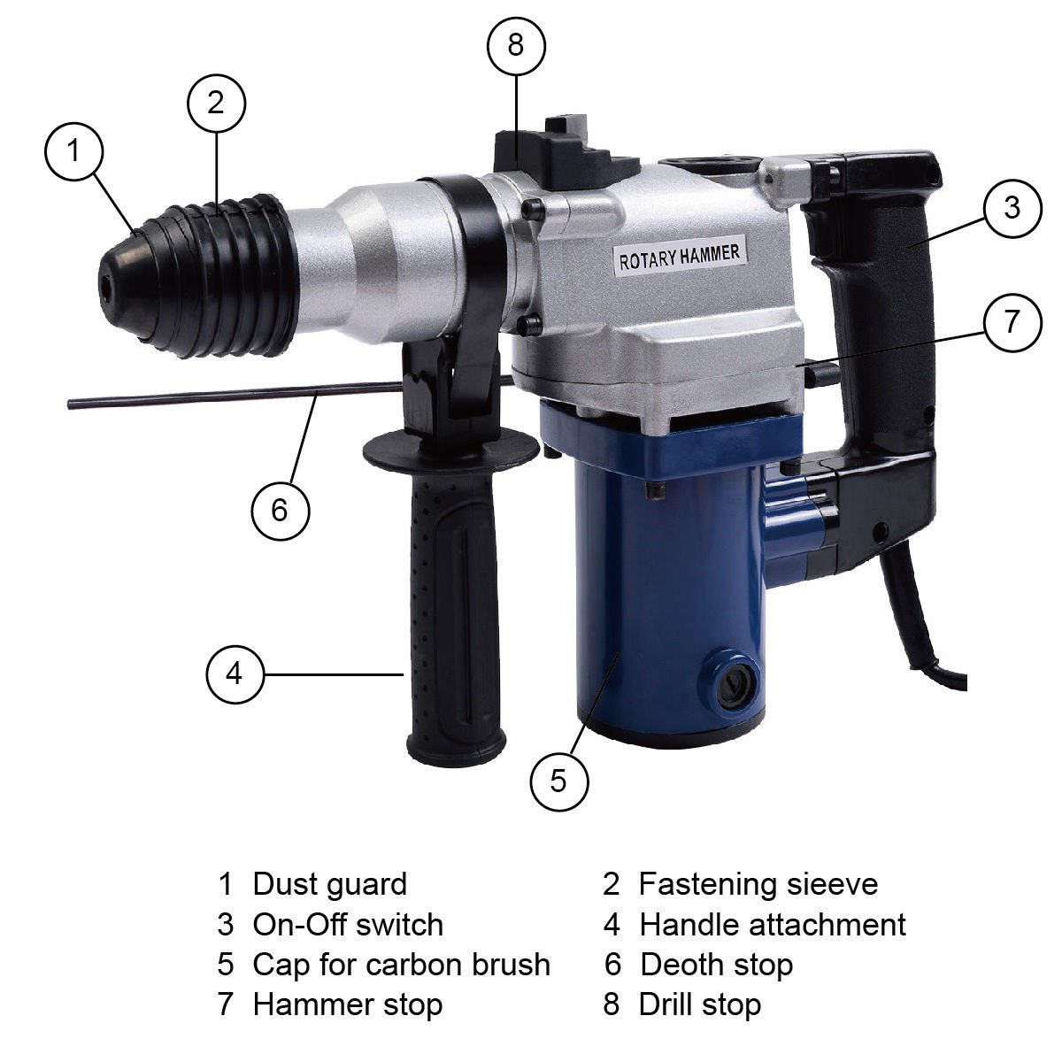 New MTN-G New 1'' Electric Rotary ROTO Hammer Drill SDS Concrete Chisel Kit w/ Bits by MTN Gearsmith (Image #5)