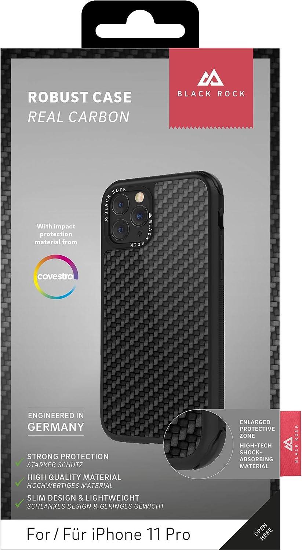 Black Rock Hülle Case Real Carbon Hülle Passend Für Apple Iphone 11 Pro Cover Karbon Handyhülle Kabelloses Laden Carbon Schwarz Elektronik