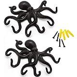 Coastal Marine Ocean Sea Giant Octopus Kraken Wall Mount Iron Coat Key Hook Hanger Treasures of Caribbean Islands