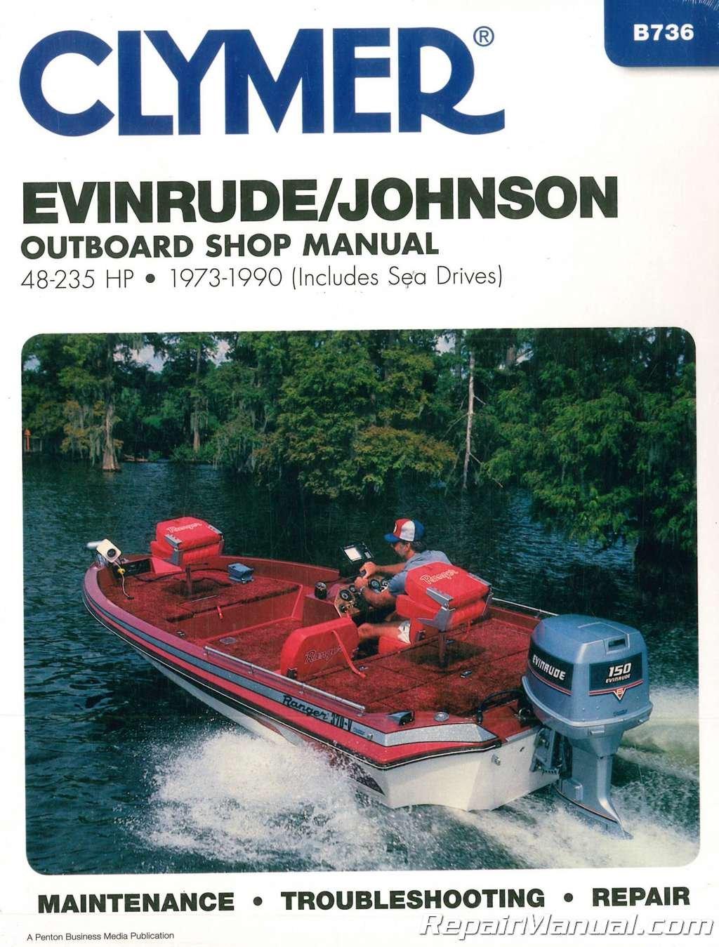 Download B736 Evinrude-Johnson 48-235 hp 1973-1990 Outboard Boat Repair Manual ebook
