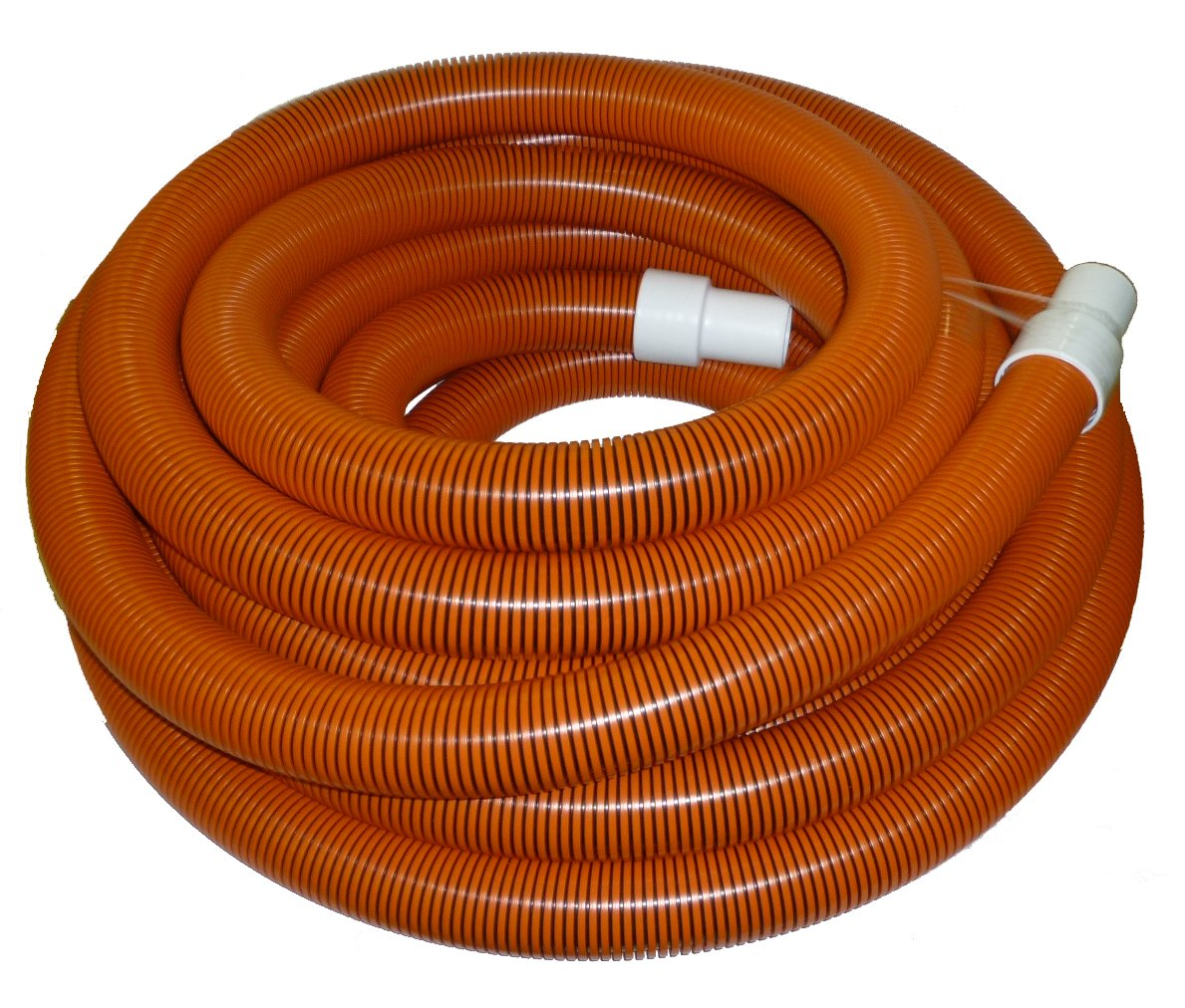 2'' x 50' Orange/Black I-Helix Commercial TM Vacuum Hose with White Cuffs