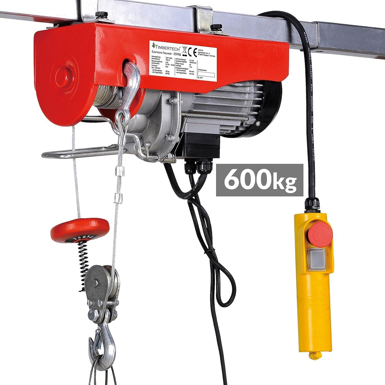 Elektrische Seilwinde 400 kg Ladekapazitä t Seilhebezug mit Fernbedienung ausgestattet mit Umlenkrolle Elektroseilwinde Motorwinde