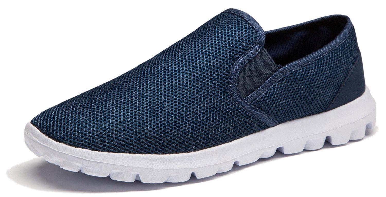 vibdiv Men's Slip on Shoes Casual Shoes Lightweight Breathable Anti-Slip Shoes(EU 43 US 9.5 Men, Navy)