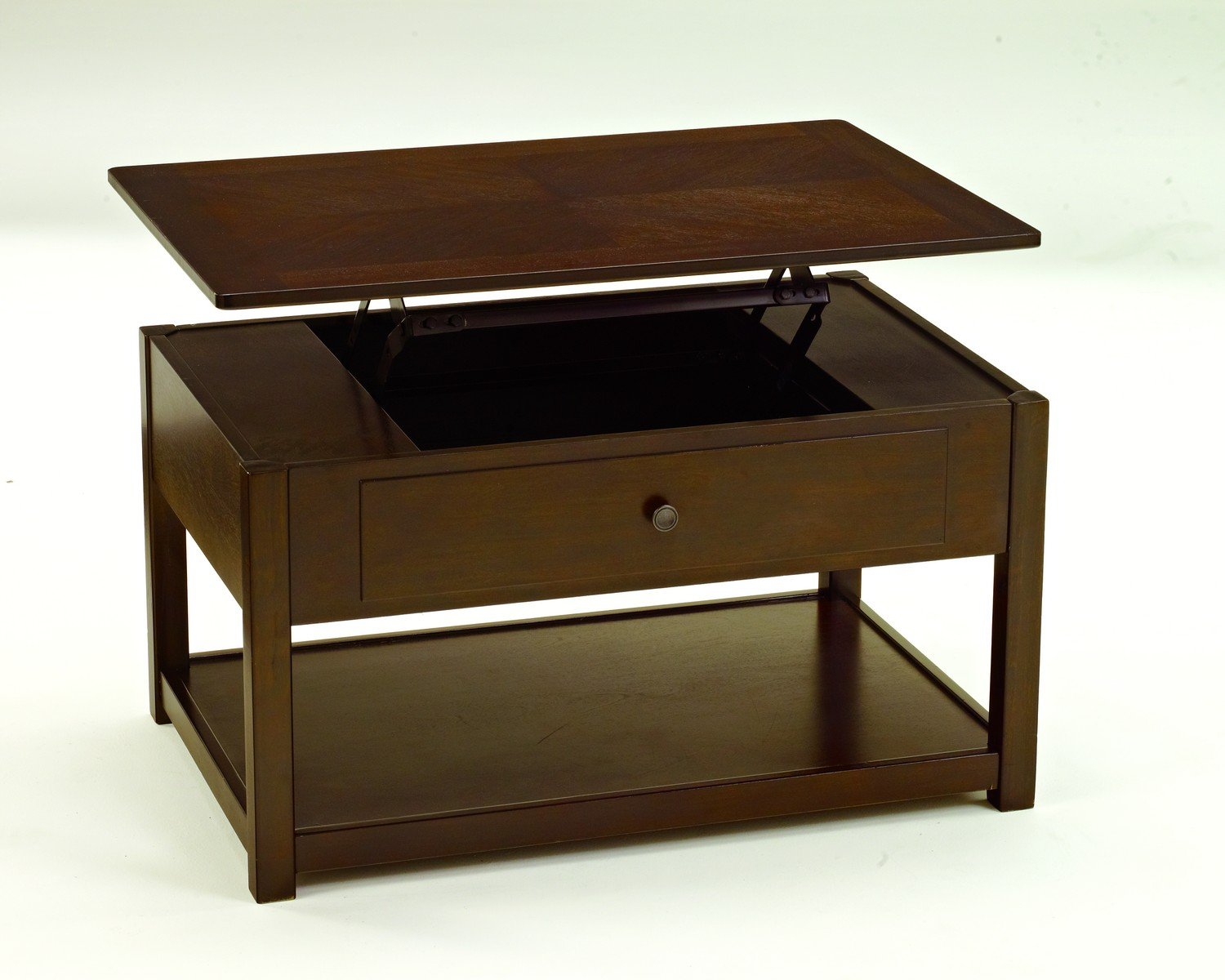 Lift top cocktail table ashley furniture - Amazon Com Ashley Furniture Signature Design Marion Lift Top Coffee Table 1 Drawer And 1 Fixed Shelf Contemporary Dark Brown Kitchen Dining