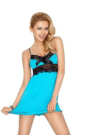 8925f3861ace36 R-Dessous DKaren Damen Nachtwäsche Viskose Nachthemd Kurzarm Nachtkleid  Sleepshirt Frauen Wäsche Pyjama: Amazon.de: Bekleidung