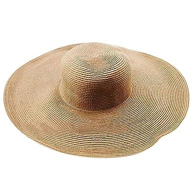 437a3fda8fe Beach hat Women Straw Beach Sun Summer Hat Wide Brim Breathable Cap ...