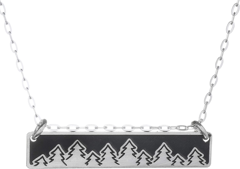Treeline Horizontal Bar Necklace