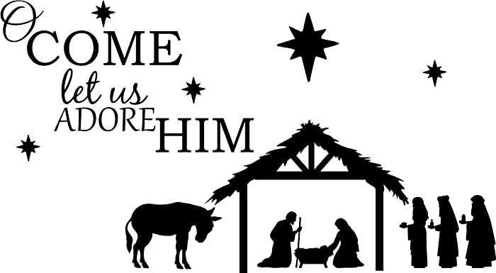 Top 10 Self Adhesive Christmas Manger Scene Decor For Walls